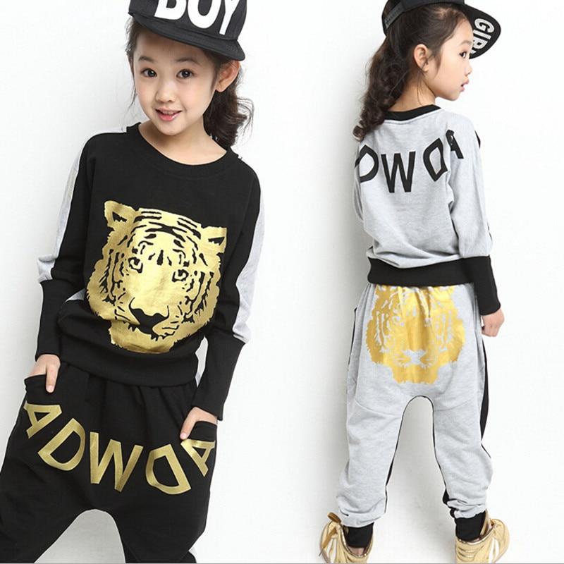 Spring children set Boys Girls Clothing Sets 2017 Spring cotton Sportswear Long Sleeve Tiger Kids Clothing Sets<br><br>Aliexpress
