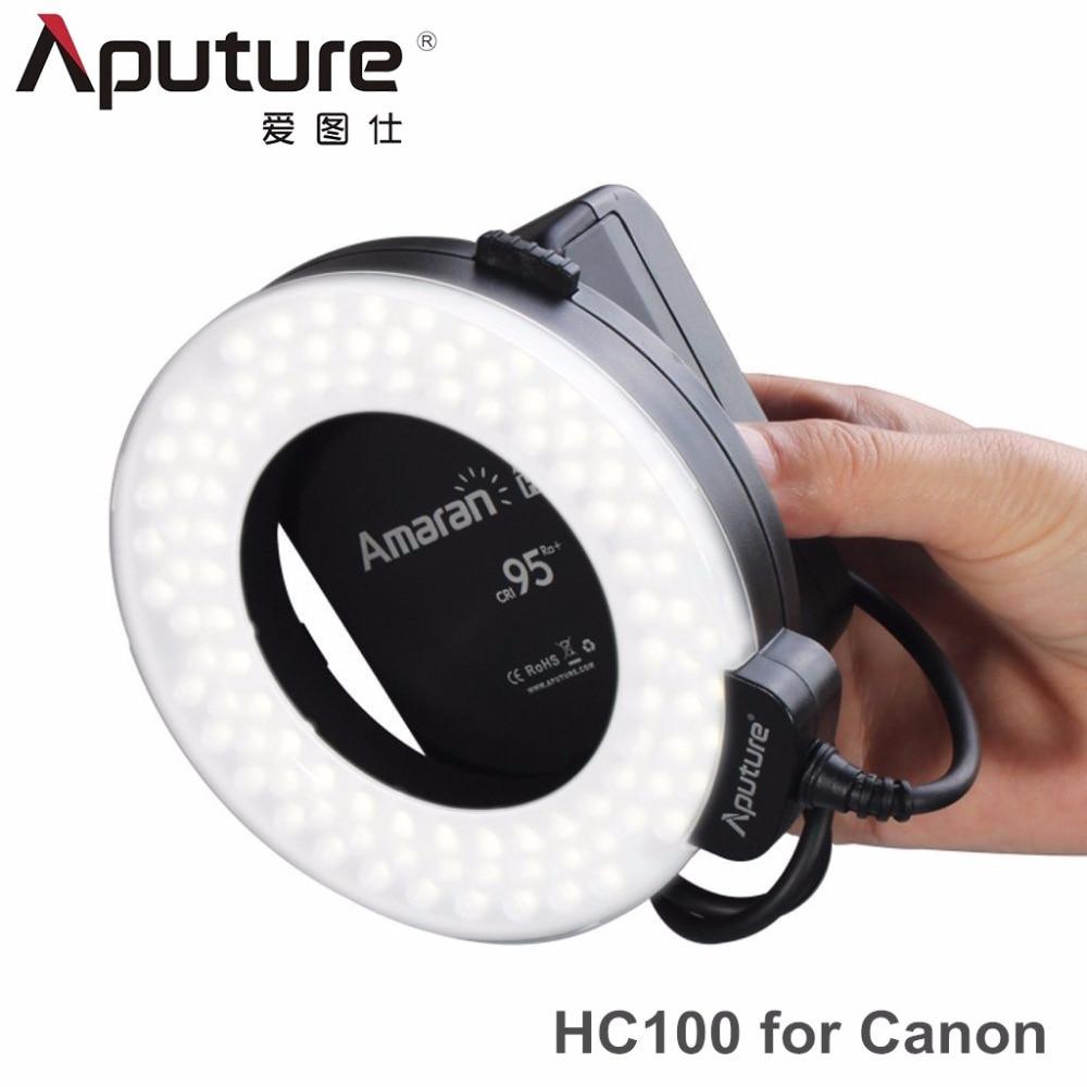 Aputure HC100 CRI 95+ Amaran Halo LED Macro Flash Video light for Canon EOS 7D 6D 50D 5D Mark III 5D Mark II 700D 70D<br><br>Aliexpress