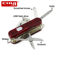Multi-function Swiss Army Knife Design USB 2.0 Flash Drive 8GB Pen Drive Memory Stick 16GB 32GB 64GB USB Flash Disk Thumb Drive(China)