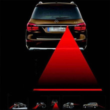Car Styling Laser Anti Collision Rear-end 12V LED Fog Lamp Auto Motorcycle Tail Brake Warning Light Parking Red Safety Light