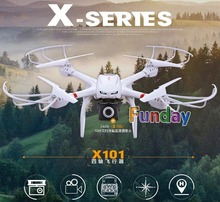 MJX X101 RC Quadcopter with Camera HD 720P FPV Real Time Video Remote Control Helicopter Big Drone One-Key Return PK X8W V666