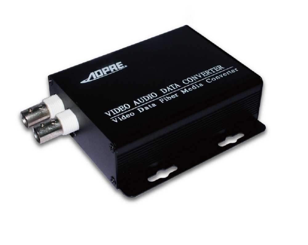 2channel video audo data converter/fiber media transmitter receiver 20km with 1way 485 optical data<br>