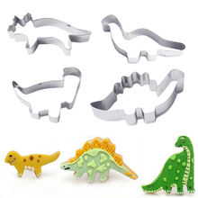 4PC/Set Patisserie Cake Mold Decorating Pastry Cookie Cutter Animal Dinosaur Molds New