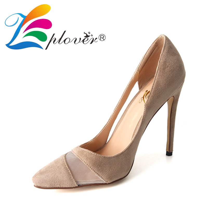 Zplover Women High Heel Shoes Pointed Toe Sexy Velvet Shoes Woman Pumps High Quality Thin Heels Footwear Women Party Shoes <br>