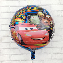 XXPWJ Free shipping Car Foil Balloons & Helium Balon Cartoon Cars store party Birthday Decoration classic toys  I-017