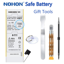 100% Original NOHON High Capacity 1590mAh Battery For iPhone 5 5G Mobile Phone With Retail package Repair Tools Gift in stock