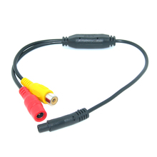 Car Video Cable RCA-4PIN For Car Parking Rearview Rear View Camera Connect Car Monitor DVD Trigger Cable(China)