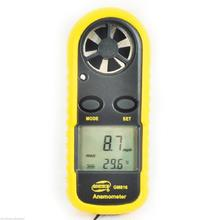 Rpm Windmeter Speed Tester Pocket Lcd Digital Anemometer Air Wind Speed Scale Gauge Meter Thermometer Gm816
