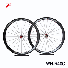 Best sale 40mm depth carbon road bike wheels 700c bicycle wheel clincher wheelset WH-R40C