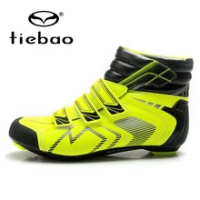 Tiebao Autumn Winter Road Cycling Ankle Boots Windproof Athletic Self-locking Bicycle Bike Shoes Clismo patillas EUR 40-47