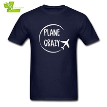 Plane Crazy Male T Shirt Printed Classic Airplane T-Shirt Men Short Sleeve 100% Cotton Tshirts Dad New Arrival Clothes Pilot