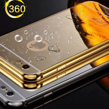 Luxury Mirror Case For iPhone 5C Aluminum Frame + Hard PC Plating Back Cover For Apple iPhone 5c Metal Phone Cover 5C case cover