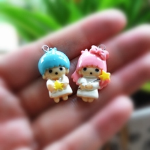 18pcs Adorable Components For DIY Phone Decoration Flat Back Resin Charms Necklace Pendant(China)