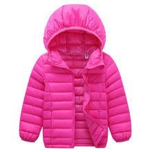2017 Newest 2-11Y Ultra light baby Girls boys down jacket 90% duck down coat winter spring autumn warm children clothes with Cap