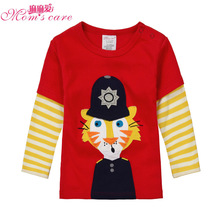 Mom's care Spring Long Sleeves Childrens T shirt Infant Toddler Tees Boys Girls Tops Kid Blouses Cotton Bottoming Shirts Clothes