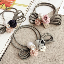 Buy Korea Camellia Pearl Flower rystal Hair Accessories Hair Bows Elastic Hair Bands Rubber Band Hair Ring Headbands Women for $2.35 in AliExpress store