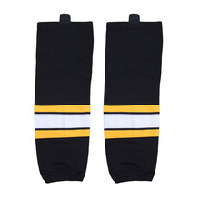 Free shipping Ice Hockey Equipment Socks Team Sport Support Hosiery Adult Hockey Sock Ice Hockey Socks W014 BLACK(China)