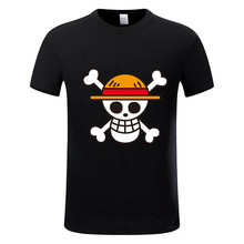 One Piece T shirt 2017 Fashion Japanese Anime Clothing Back Color Luffy Cotton T-shirt For Man And Women,Brand Camiseta,GMT009(China)