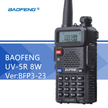 Baofeng UV-5R 8W Walkie Talkie Ver BFP3-23 Dual Band UV 5R PTT CB Radio 128CH VOX Flashlight Portable Ham Radio Comunicador