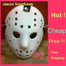 Black Friday Jason Voorhees Freddy hockey Festival Party Full Face Mask Pure White 100gram PVC For Halloween Masks 200pcs/lot