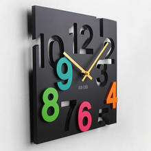 Fashion Creative Electronic Wall Clock Sitting Room Free shipping 3 Colors