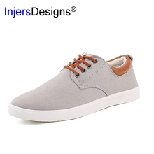 New Arrival Spring Summer Comfortable Casual Shoes Mens Canvas Shoes For Men Lace-Up Brand Fashion Flat Loafers Shoe(China)