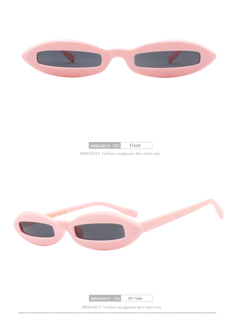 MEROAFLY 2018 New Fashion Sexy Ladies Small Oval Sunglasses Women Brand Designer Clear Sun Glasses For Female Oculos Gafas UV400