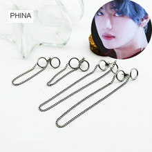 Buy 1pcs KPOP BTS Bangtan Boys Album Stainless steel chain Stud Earrings Korean Jewelry Accessories Men Women Earring for $1.98 in AliExpress store