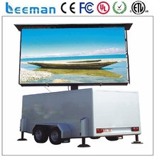 Leemanled P3 Advertising mobile P10 DIP/SMD Van/ vehicle/ car/ trailer/ truck mobile led display Car Advertisement Screen