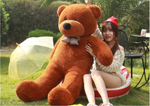 High quality Big Sale Giant teddy bear 160cm huge large big stuffed toys animals plush life size baby dolls toy valentine gift(China)