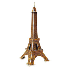 3D Puzzle Paper 2set Kids Games Puzzle Paper DIY Toys Mini Eiffel Tower Paris 20pcs Building Model for Children(China)