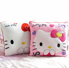 35*35CM Super Kawaii Hello Kitty Pillows Soft Back Cushion Stuffed Plush Toys Baby Love Very Good Quality Special Offer(China)