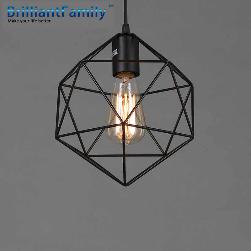 Simple Vintage Chandelier Nordic Wrought Iron Creativity Coffee Bar Dining Room  Light Fixtures  Personality Diamond Chandelier<br><br>Aliexpress