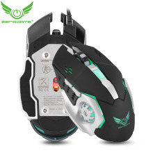 ZERODATE X500 USB Wired Game Mouse With LED Lights and Driver CD for Game Gamer Mouse Gaming Players
