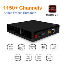 Best Europe Arabic TV Box I68 II Android 6.0 Amlogic S912 2GB DDR3 16GB 2.4G WIFI French Italy UK Germany IPTV Box Media Player