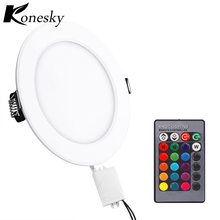 Konesky 5W LED Panel Light RGB Concealed Mounted Dynamic Modes Power-Off Memory Function for Meeting Room Store Super Market