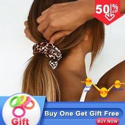 Леопардовый принт, резинки для волос, Женские аксессуары для волос, женские галстуки для волос в полоску, вельветовые резинки, конский хвост...