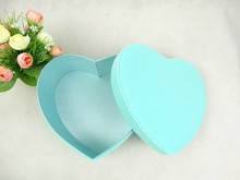 2pcs/set Heart-shaped light blue flower box, chocolate, perfume packing box,valentine's day gift box ,hot sell in China