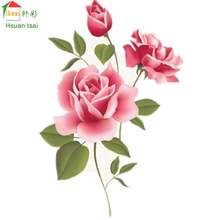 Large size 3D red peony flowers wall decals home decoration vinyl wall stickers home decor DIY living room sofa wall papers(China)