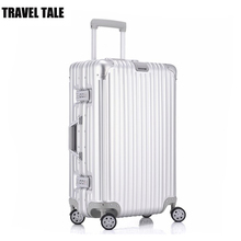 "TRAVEL TALE 20""24""29 inch aluminum carry on luggage magnesium metal koffers trolleys"