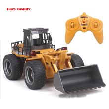Remote Bulldozer Alloy Version Of Remote Control Engineering Vehicles Loaders Forklift Rc Toy Remote Control Cars Kids(China)