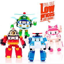 4pcs/Set Korea robot classic plastic Transformation Toys Toys Best Gifs For Kids free shipping
