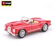 1955 Lancia B24C bburago 1:18 car model alloy diecast Classic cars Retro convertible car kids toy collection gift boy red