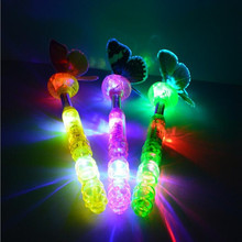 2017 Butterfly Shaped Stick Light Up Wand Sticks LED Lighting Children Gift Toys Christmas Birthday Glow Party Supplies