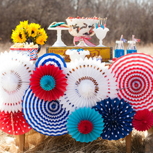6pcs Tissue Paper Fan Flower paper crafts home wedding party decoration holiday outside festival event supplies 8' 12' 16' inch