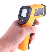 Digital Infrared Thermometer Themperature gauge Tester Pyrometer IR Laser Surface Body Forehead Point Gun termometro(China)