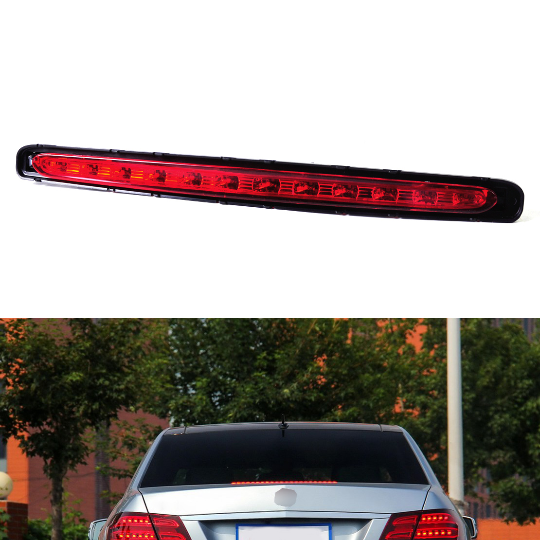 DWCX 2118201556 Car Rear LED Third Stop Brake Light Lamp for Mercedes Benz E Class W211 2003 2004 2005 2006 2007 2008 2009<br>