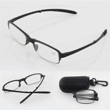 High Quality Folding Reading Glasses Men Women Eyeglasses For Reading Presbyopic Aspherical resin Eyeglasses 1.5 2.0 2.5 3.0 3.5(China)