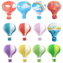 12inch 17Colors Rainbow Paper Lantern Hot Air Balloon Sky Lanterns Home/Wedding/Birthday/Christmas Party Decoration Supplies(China)