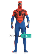 Free Shipping DHL Printing Superior Spider Man Costume Lycra Spandex Spiderman Unique Red Blue Cool Zentai Costume For Halloween